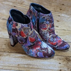 Patrizia Embriodered Ankle Boots
